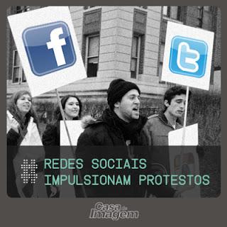 Redes sociais impulsionam protestos