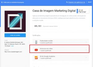 Agência de Marketing Digital de Franca Certificada no Youtube.
