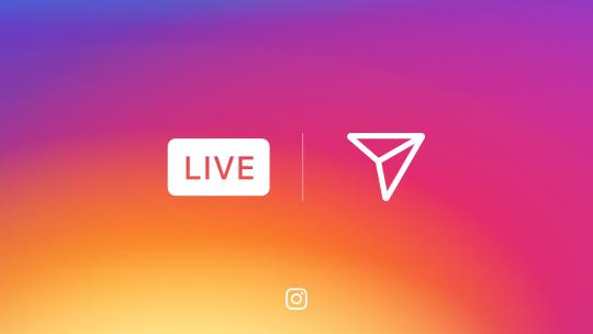 Novidades no Instagram live e direct