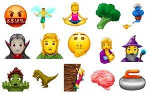novos e diferentes emojis