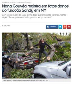 Nana Gouvêa o desastre do Furacão Sandy
