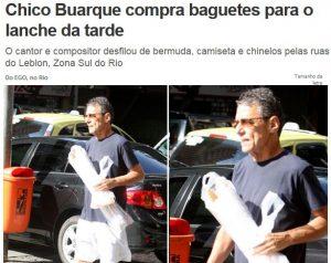 Chico buarque comprou baguetes no leblon