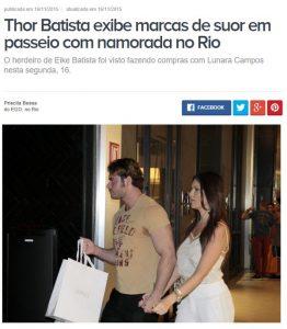 Thor Batista e suas marcas de suor